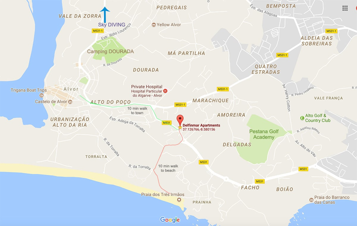 Alvor map