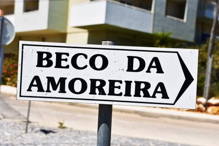 alvor apartment road sign