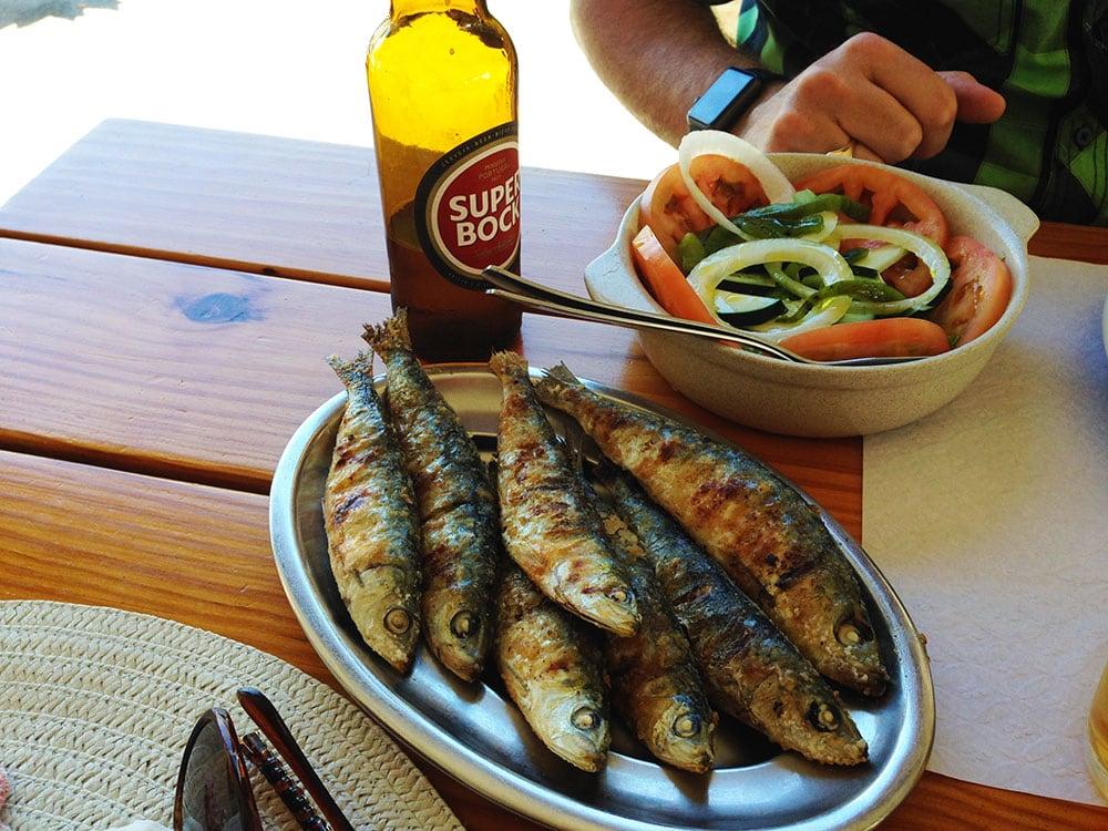 alvor bbq sardines salad tuna